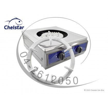 Chelstar Heavy Duty Stainless Steel Single Burner Table Top Stove / Gas Cooker (CCB-35N)