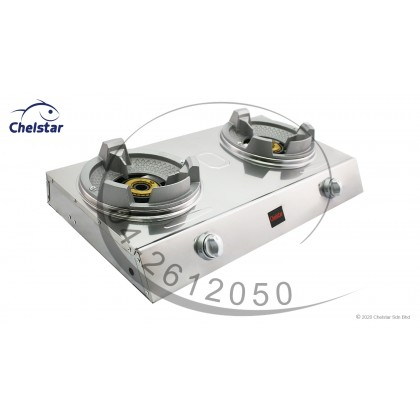 Chelstar High Pressure Double Burner Table Top Stove / Gas Cooker (MS-2A)