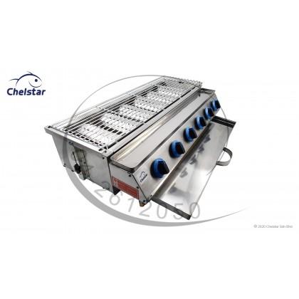 Chelstar 6 Burner Commercial Auto BBQ Stove (CBQ-60)