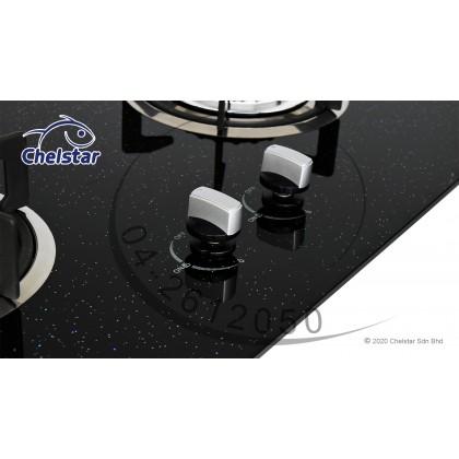 Chelstar Double Burner Built-in Glass Hob (CGH-661J)