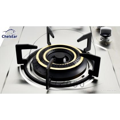 Chelstar Double Burner Stainless Steel Hob (CGH-771J)
