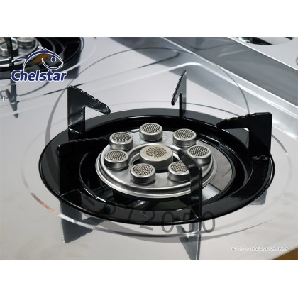 Chelstar Stainless Steel Double Burner with Stand (DCF-8D)