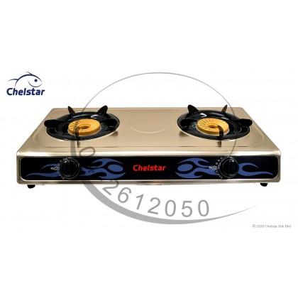 Chelstar Double Burner Table Top Stove / Gas Cooker (J-6000K)