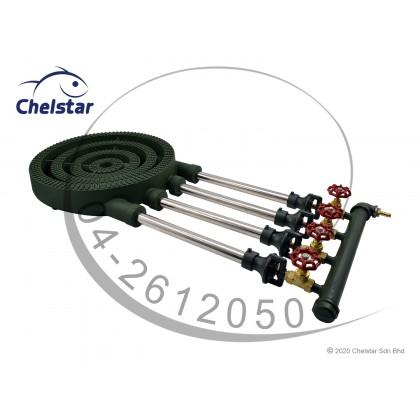"Chelstar High Pressure Cast Iron ""B & C"" Gas Cooker / Stove (CF-220)"