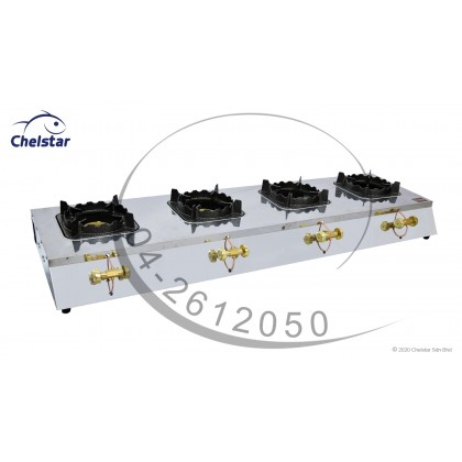 Chelstar Four Burner Commercial Table Top Stove / Gas Cooker (MS-40M)