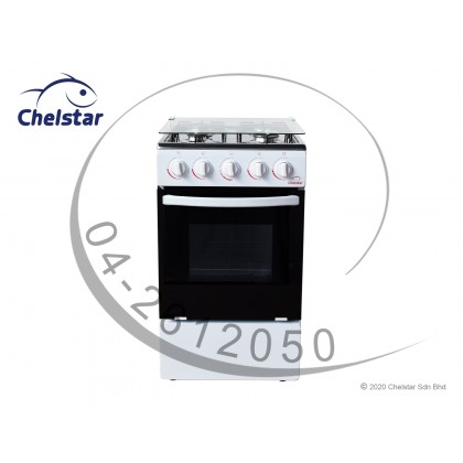 Chelstar 4 Burner Free Standing Cooker with Oven 60L (CSA-5050)