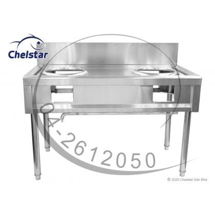 Chelstar Commercial Double Stainless Steel Burner Stand (K-2)