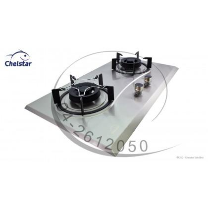 Chelstar Double Burner Stainless Steel Hob (CGH-775J)