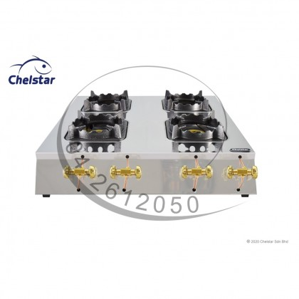 Chelstar Four Burner Commercial Table Top Stove / Gas Cooker (MS-40MS)