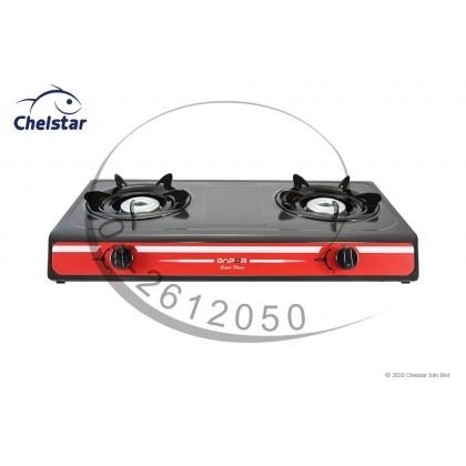 Dapor Double Burner Table Top Stove / Gas Cooker (D-6500K)